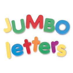 Jumbo Magnetic Letters - Uppercase and Lowercase