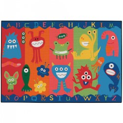Alphabet Monsters Rug
