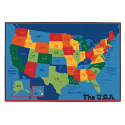 USA Map Rug - 4' x 6' Rectangle