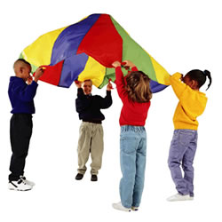 20' Rainbow Parachute with 16 Handles