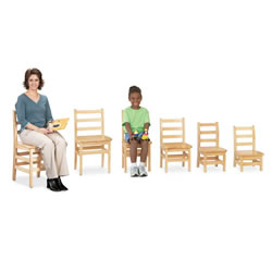 Ladderback Chair 18 Inch - Set of 2
