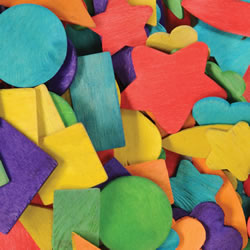 Colored Wood Party Shapes