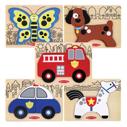 Around the Town Chunky Puzzle Set (Set of 5)