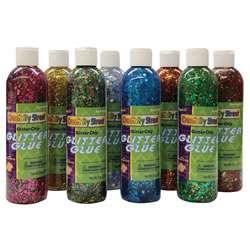 Glitter Chip Glue (8- 8 oz.colors)