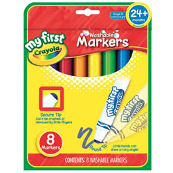 Crayola® My First Round Tip Markers (6 Boxes / 8 Count)