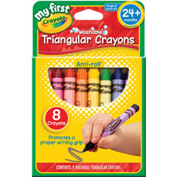 Crayola® My First Triangular Crayons (1 Box / 8 Count)