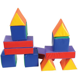 Soft Color Shapes Toddler Blocks