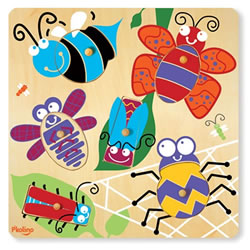 6-Piece Surprise Picture Puzzle - Bugs