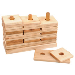 3 Peg Puzzle Stacker