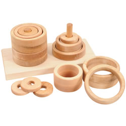 2 Peg Ring Puzzle Stacker