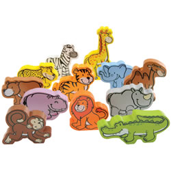 Jungle Parade Wooden Animal Set
