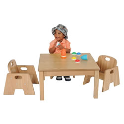 Ash Table and Chair Set