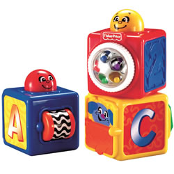 Bright Beginnings Stacking Action Blocks (Set of 3)