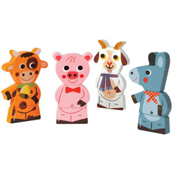 Magnetic Stacking Farm Animals (Set of 4)