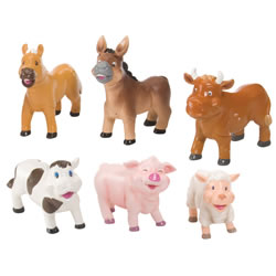 Soft and Squeezable Farm Animal Playset
