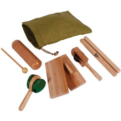 Basic Natural Wooden Instrument Set