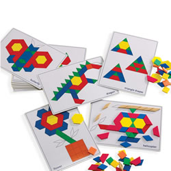 Pattern Blocks Picture Cards (20 Cards)