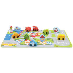 Hape Early Explorer Busy City Play Set (16 Pieces)