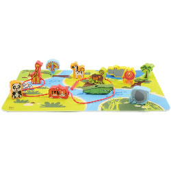 Hape Early Explorer On Safari Play Set (16 Pieces)
