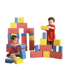 Cardboard Brick Block Large Building Set (44 pieces)