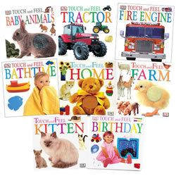 Touch & Feel Book Set (Set Of 8)