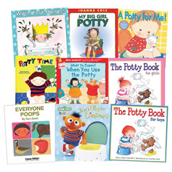 Potty Training Book Set (Set of 9)