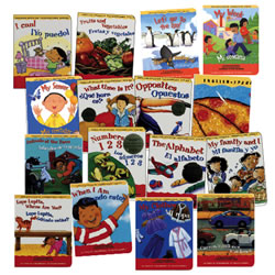 We Can Read in English and Spanish Board Books (Set of 16)