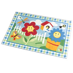 "Happy Flowers Rug - 39"" x 58"""