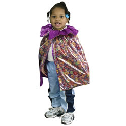 Sparkle Flowers and Regal Purple Reversible Cape