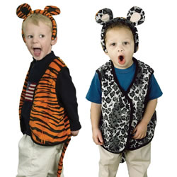 Grey Leopard & Tiger Reversible Vest
