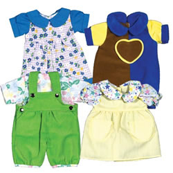 Playwear Clothes For 10 - 13 Inch Dolls