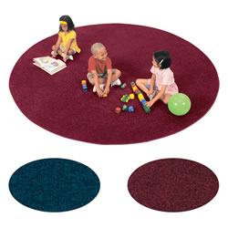 Solid Color Round Carpet - 9'