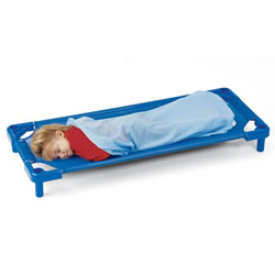 K System® -- Toddler Stackable Cot - Blue (set of 5)