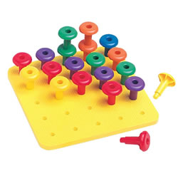 Jumbo Easy Grip Pegs & Pegboard Set
