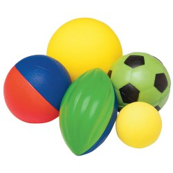 Foam Ball & Mesh Bag Set (5 balls)