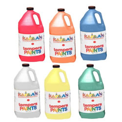 Kaplan Kolors Tempera Paint Set of 6 Gallons