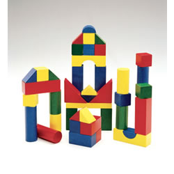 Wooden Color Blocks - 200 pieces