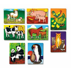 Animal Parents & Babies Puzzle Set (Set of 8)