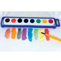 8 Color Washable Watercolor Trays (12 trays)