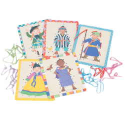 Children Of The World Lacing Cards