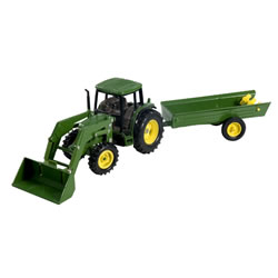 1:32 John Deere 6210 Tractor with Loader and Manure Spreader