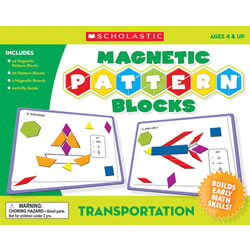 Transportation Magnetic Pattern Blocks