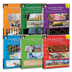 Leveled Texts for Mathematics Set (6 Books)