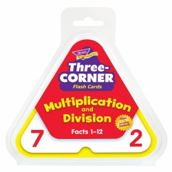 Three-Corner® Flash Cards (Multiplication and Division)