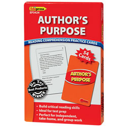 Author's Purpose Reading Comprehension Practice Cards