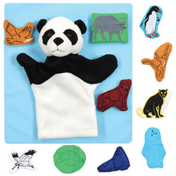 Panda Bear Puppet and Props