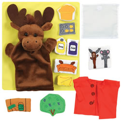 If You Give a Moose a Muffin Puppet and Props