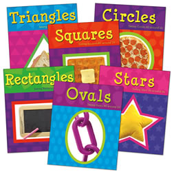 Two-Dimensional Shapes Book Set (Set of 6) - Paperback