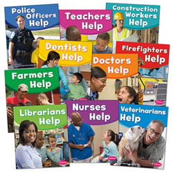 Our Community Helpers Book Set (Set of 10) - Paperback
