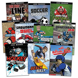 Jake Maddox Sports Stories Set B (Set of 10)